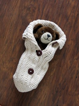 Crochet Chunky Button Cocoon