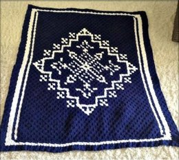Snowflakes In The Sky Blanket