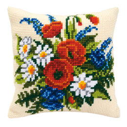 Vervaco Spring Has Sprung Cushion Front Chunky Cross Stitch Kit