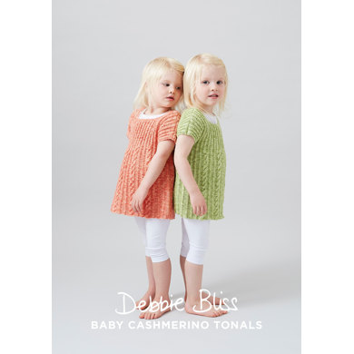 Siobhan Tunic Top in Debbie Bliss Baby Cashmerino Tonals - DB170 - Downloadable PDF