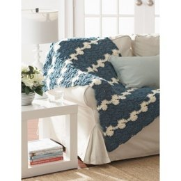 Gentle Waves Lap Blanket in Bernat Softee Chunky
