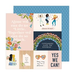 American Crafts Jen Hadfield - Reaching out Better Together 12x12 Cardstock