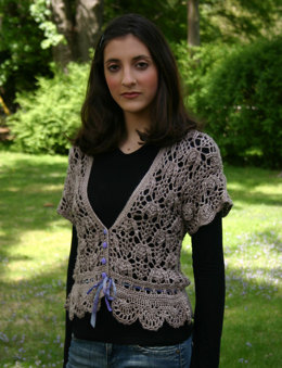 Silk Blossom Cardigan in Artyarns Regal Silk - I111