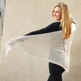 Lace Bordered Shawl in Plymouth Yarn Arequipa Worsted - 3219 - Downloadable PDF
