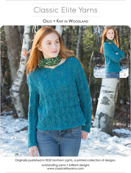 Oslo Pullover in Classic Elite Yarns Woodland - Downloadable PDF