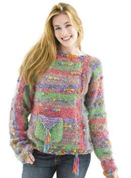 Mix-It-Up Sweater in Lion Brand Homespun and Color Waves - 40021