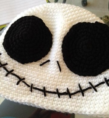 Jack Skellington Beanie Crochet pattern by Bizzy Crochet 3113cd1e310