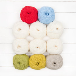 Katia Winifred Baby Blanket by Little Doolally - 11 Ball Color Pack