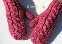 Cabled Mittens For All