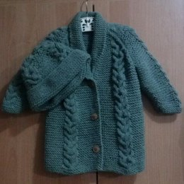 Saraid cable coat and hat
