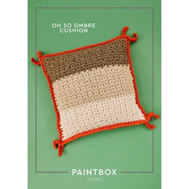 """""""Oh So Ombre Cushion"""" : Cushion Crochet Pattern for Home in Paintbox Yarns Super Bulky   Super Chunky Yarn"""