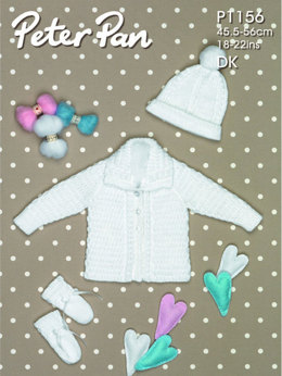 Jacket, Hat and Mitts in Peter Pan DK - 1156