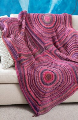 Squared Shades Throw in Red Heart Boutique Unforgettable