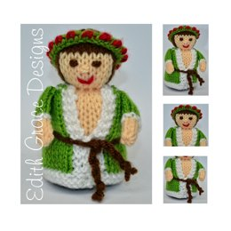 Ghost of Christmas Present Doll - Toy Knitting Pattern