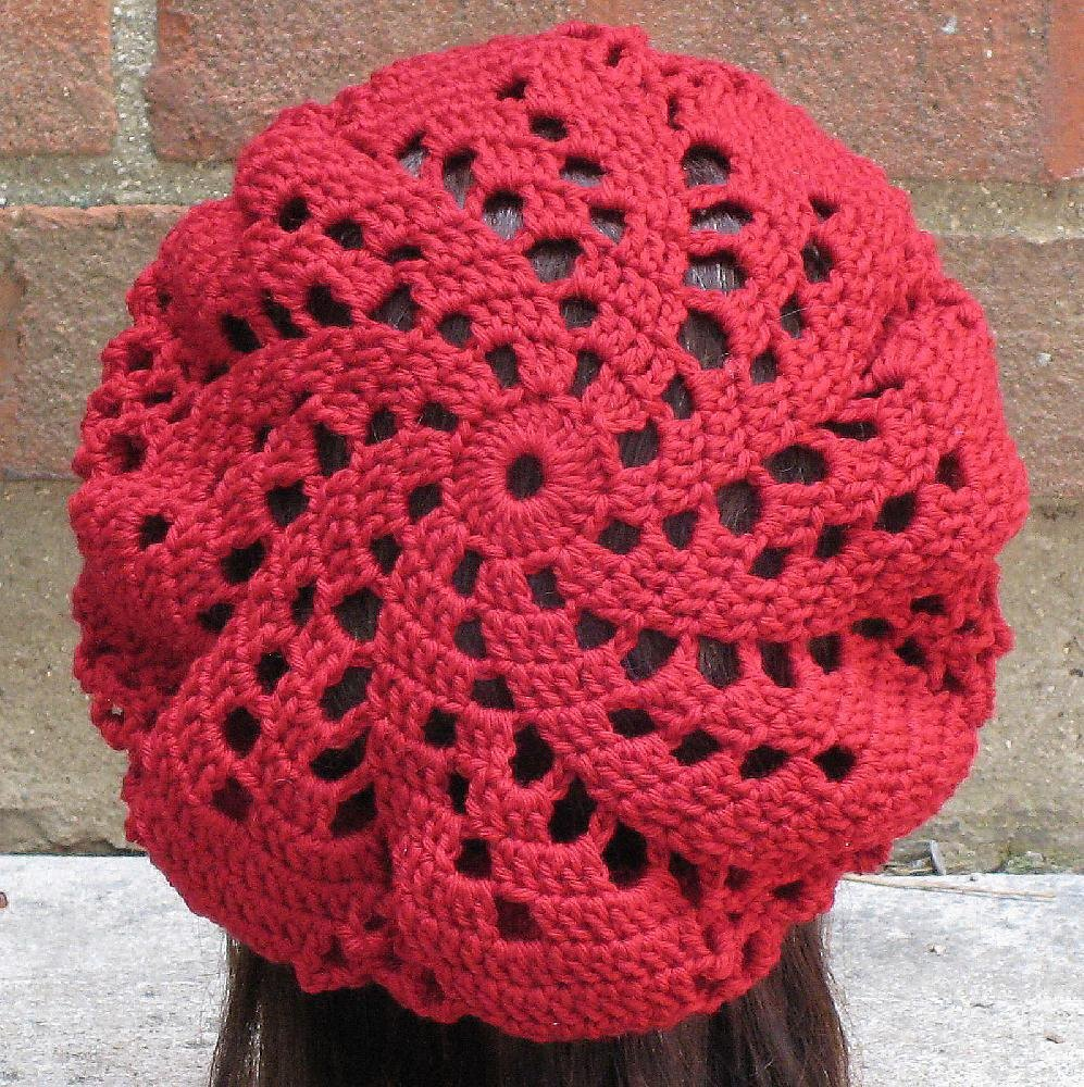 Sylvia Spiral Beret Crochet Pattern By Justine Walley Crochet