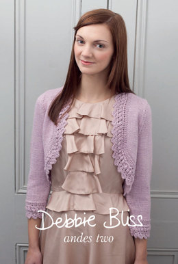 """""""Shrug and Lace Edged Bolero"""" - Bolero Knitting Pattern For Women in Debbie Bliss Andes"""
