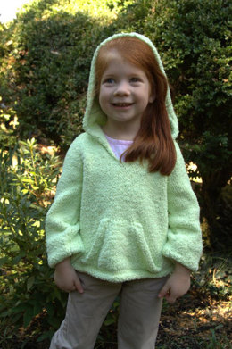 Child's Hoodie Pullover with Pouch Pocket in Plymouth Yarn Daisy - 2497 - Downloadable PDF