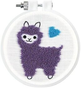 Design Works Llama Punch Needle Kit - 9cm x 9cm