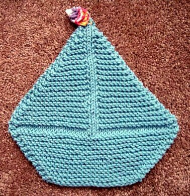 a682c8fca0c Sail Boat Dish Cloth.  2.34. off. Downloadable pattern. By Frugal Knitting  Haus