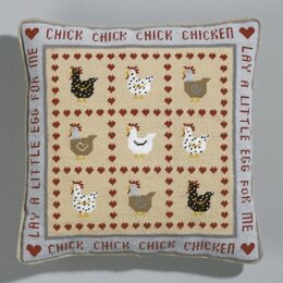 Historical Sampler Company Chick Chick Chicken Tapestry Cushion Front Kit