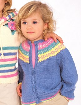 a439027cd06ce Fair Isle Classic Cardigan in Patons Astra