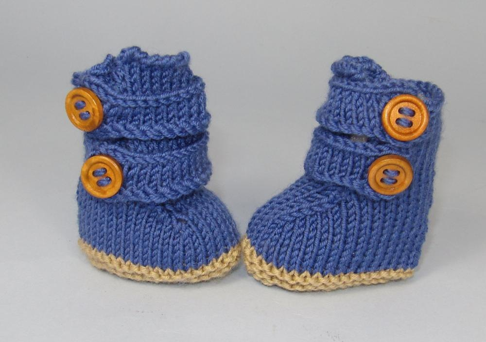Baby 2 Strap Boots Booties Knitting Pattern By Madmonkeyknits