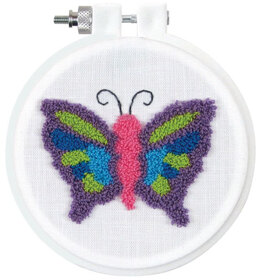 Design Works Butterfly Punch Needle Kit - Multi