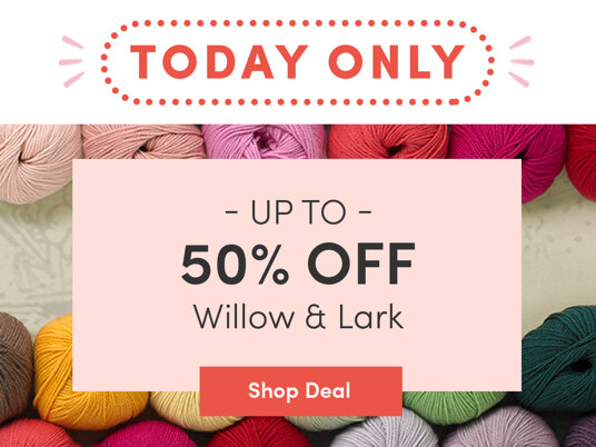 50 percent off Willow & Lark. Today only!