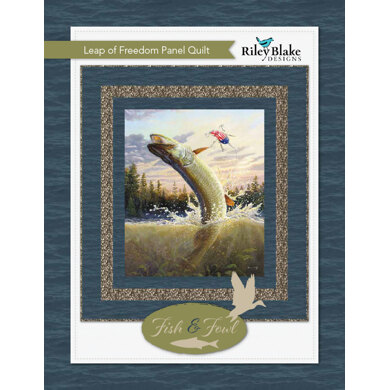 Riley Blake Leap Of Freedom Panel Quilt - Downloadable PDF