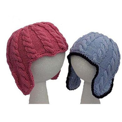Baby Cable Ear Flap Hats