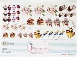 Dress My Craft Image Sheet 240gsm A4 2/Pkg - Sweet Treats