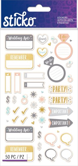 Sticko Classic Stickers - Wedding Planner
