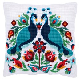 "Vervaco Pauline the Peacock Cushion Tapestry Kit - 40 x 40cm / 16"" x 16"""