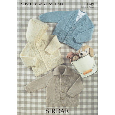Sirdar Knitting Pattern Abbreviations : Babies and Children Jackets in Sirdar Snuggly DK - 1749 - Downloadable PDF