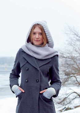 Insvept Hood And Scarf in MillaMia Naturally Soft Merino - Downloadable PDF