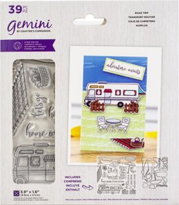 Crafter's Companion Gemini Stamps & Dies - Road Trip