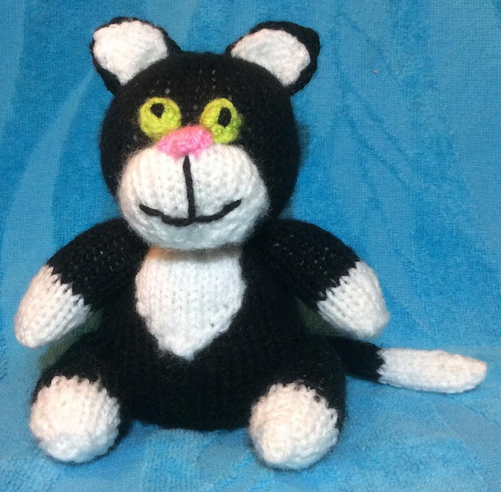 Knitting Pattern For Jess The Cat : Jess the Cat Choc Orange Cover / Postman Pat Toy Knitting pattern by Andrew L...