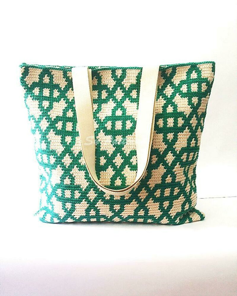 The Jade Tapestry Crochet Tote Crochet Pattern By Su Patterns