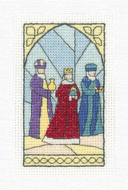 Heritage Wise Men Traditional Card Cross Stitch Kit