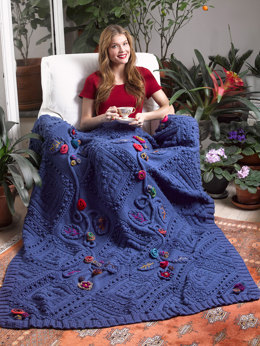 Garden Fantasy Afghan in Lion Brand Vanna's Choice - L32146
