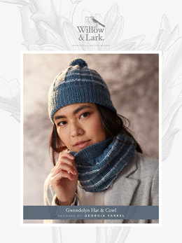 Gwendolyn Hat & Cowl in Willow and Lark Ramble - Downloadable PDF