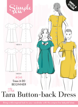 Simple Sew Patterns The Tara Button-Back Dress #048 - Sewing Pattern