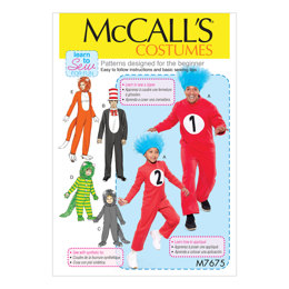 McCall's Adult/Child/Boy's/Girl's Costumes M7675 - Sewing Pattern