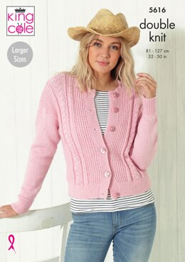 Ladies Cardigans in King Cole Paradise Beaches DK  - 5616 - Downloadable PDF