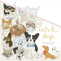 "Kaisercraft KaiserColour Perfect Bound Coloring Book 9.75""X9.75"" - Cats & Dogs"