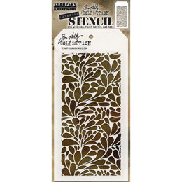 "Stampers Anonymous Tim Holtz Layered Stencil 4.125""X8.5"" - Splash"