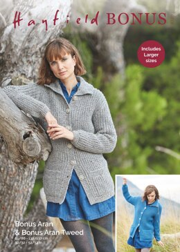 Cardigans in Hayfield Bonus Aran Tweed with Wool - 8229 - Downloadable PDF