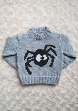 Intarsia - Spider Chart - Childrens Sweater
