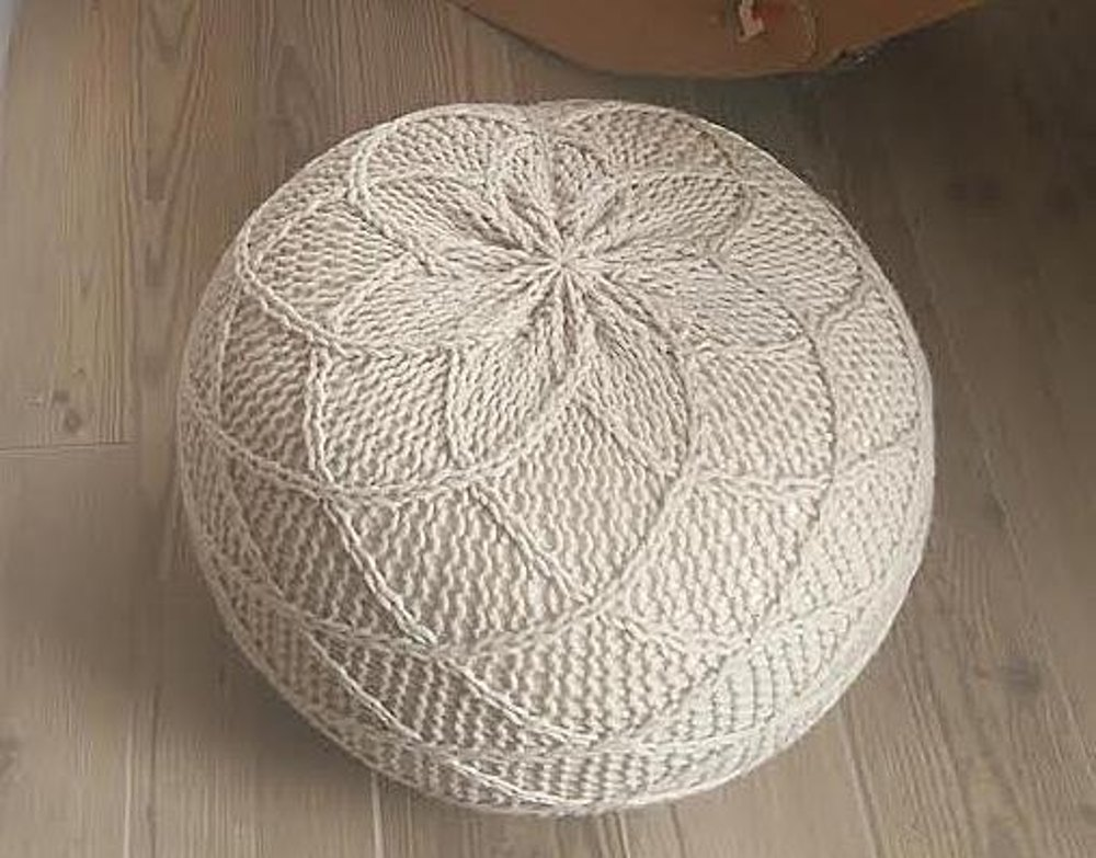 Lovely Rombo Pouf Footstool Bean Bag 116 Knitting pattern by isWoolish