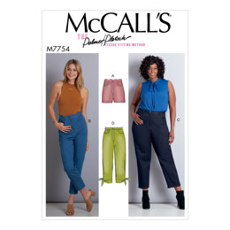 McCall's Misses'/Women's Shorts and Pants M7754 - Paper Pattern Size 8-10-12-14-16-18W-20W-22W-24W